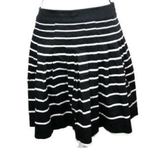 NWOT! Black and white striped a-line skirt